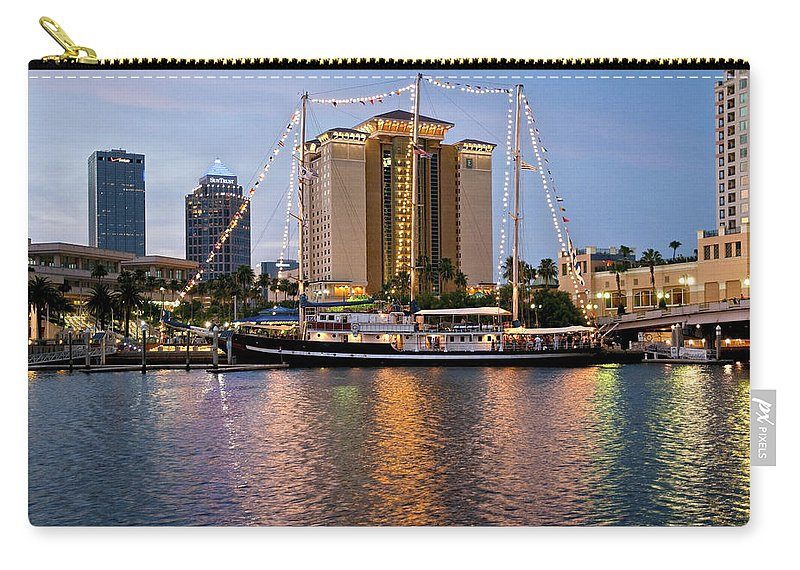 Capitan Miranda Carry-all Pouch featuring the photograph Capitan Miranda In Tampa by Steven Sparks