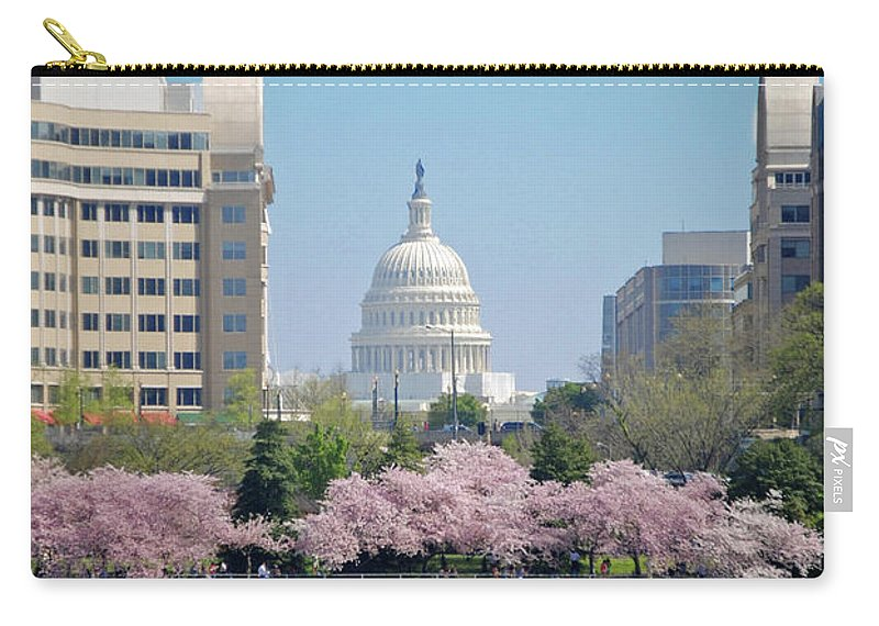 Cherry Carry-all Pouch featuring the photograph Capitol Blossoms by Jost Houk