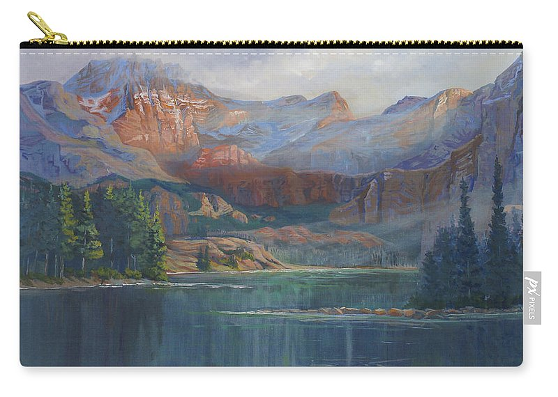 Capital Peak Carry-all Pouch featuring the painting Capitol Peak Rocky Mountains by Heather Coen