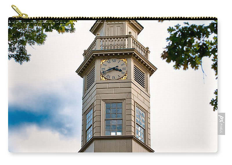 Clock Carry-all Pouch featuring the photograph Capitol Time by Christopher Holmes