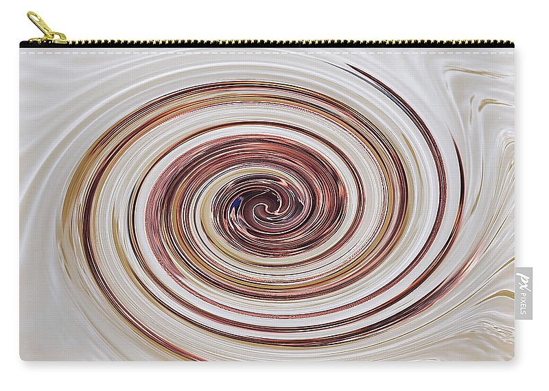 Brown And Cream Abstract Carry-all Pouch featuring the photograph Cappucchino Whip by Gill Billington