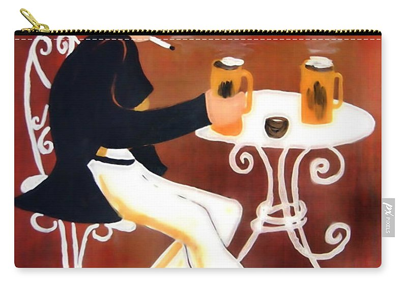 Cappuccino Carry-all Pouch featuring the painting Cappuccino by Helmut Rottler