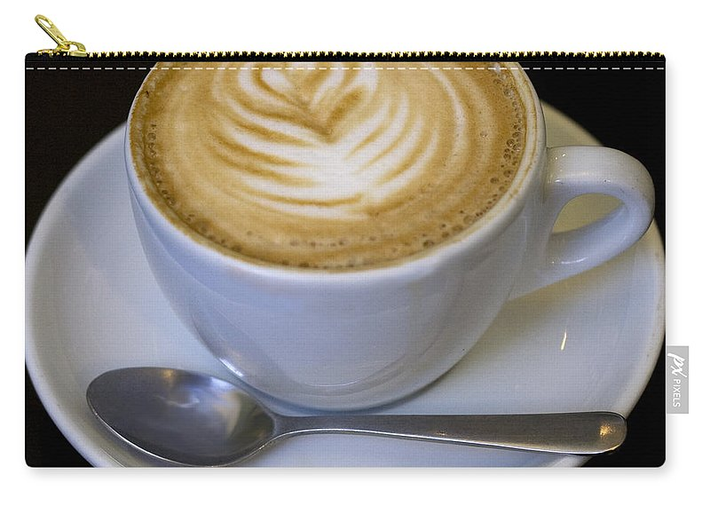 Coffee Carry-all Pouch featuring the photograph Cappuccino by Tim Nyberg