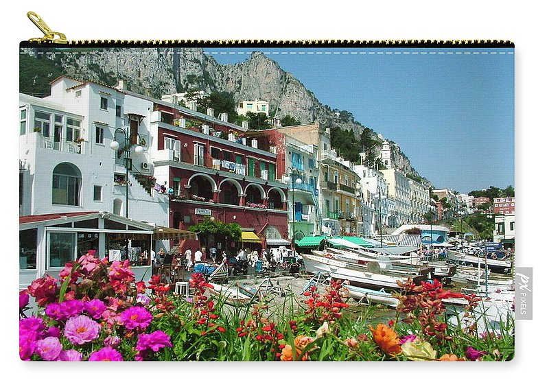 Capri Carry-all Pouch featuring the photograph Capri by Donna Corless