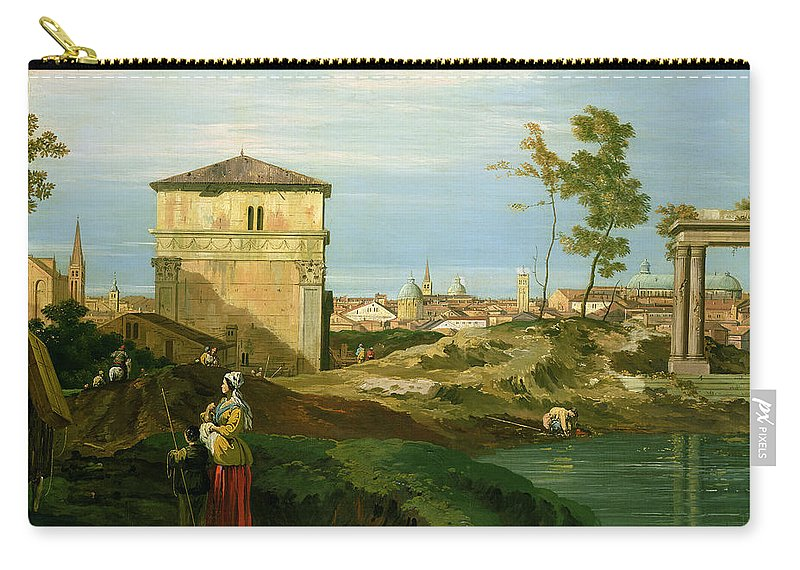 Canaletto Carry-all Pouch featuring the painting Capriccio With Motifs From Padua by Canaletto