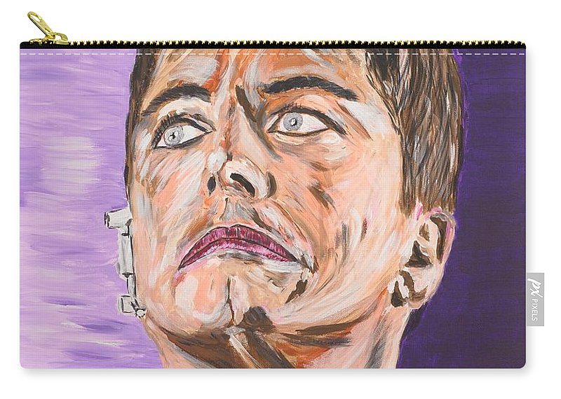 Torchwood Carry-all Pouch featuring the painting Captain Jack Harkness by Valerie Ornstein