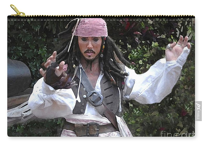 Captain Carry-all Pouch featuring the photograph Captain Sparrow by David Lee Thompson