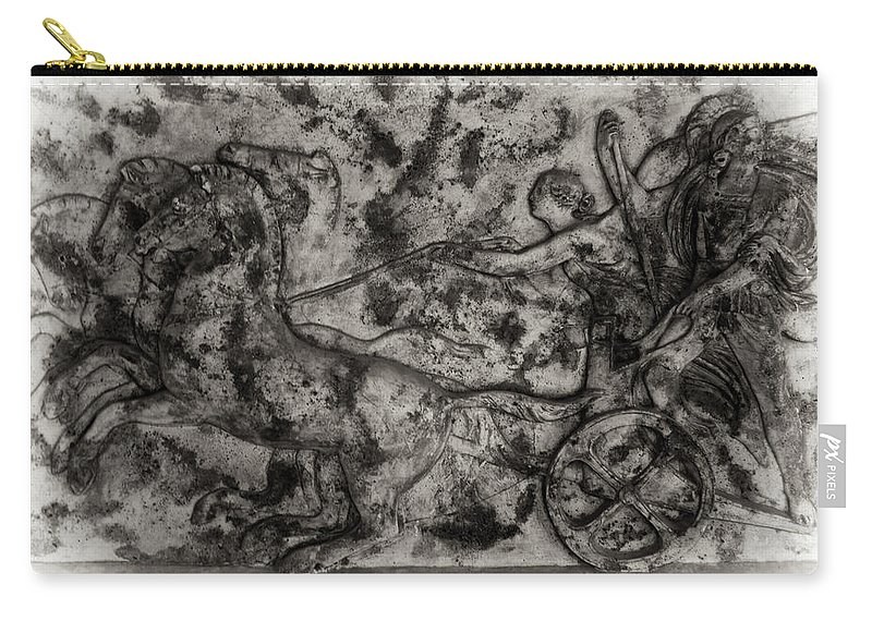Chariot Carry-all Pouch featuring the photograph Captured Chariot by Scott Wyatt