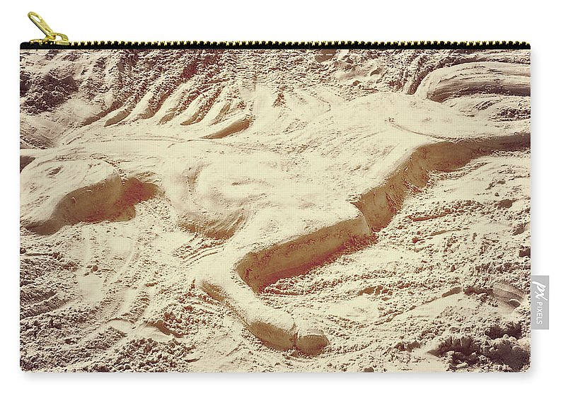 Horse Carry-all Pouch featuring the photograph Captured In The Sand Art by JAMART Photography