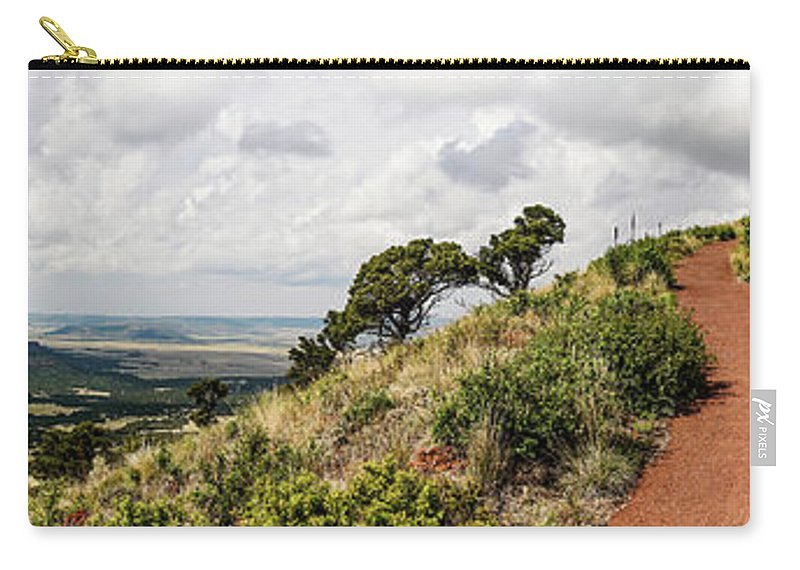 New Mexico Carry-all Pouch featuring the photograph Capulin Volcano View Panorama New Mexico by Lawrence S Richardson Jr