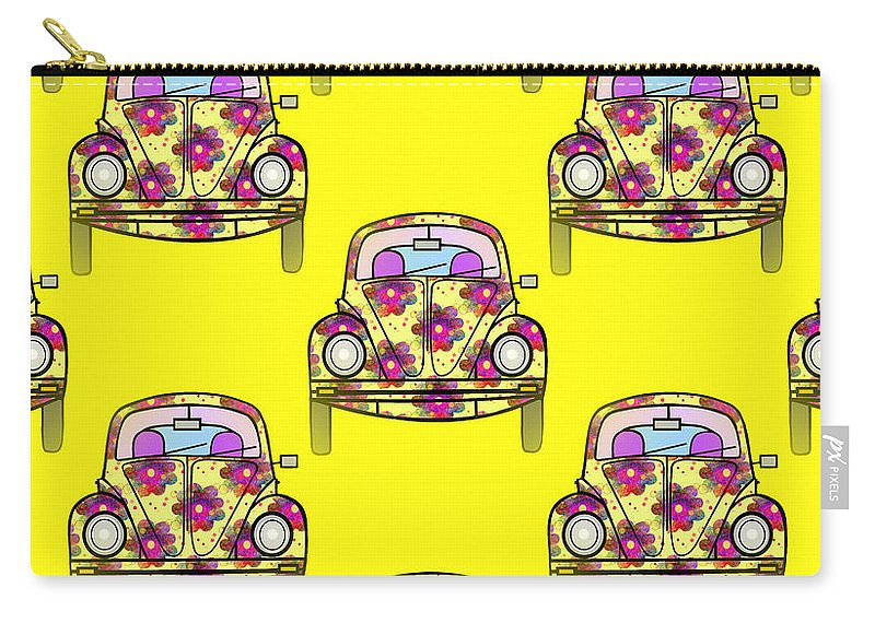 Car Pattern Carry-all Pouch featuring the digital art Car Repeat by Kathleen Sartoris