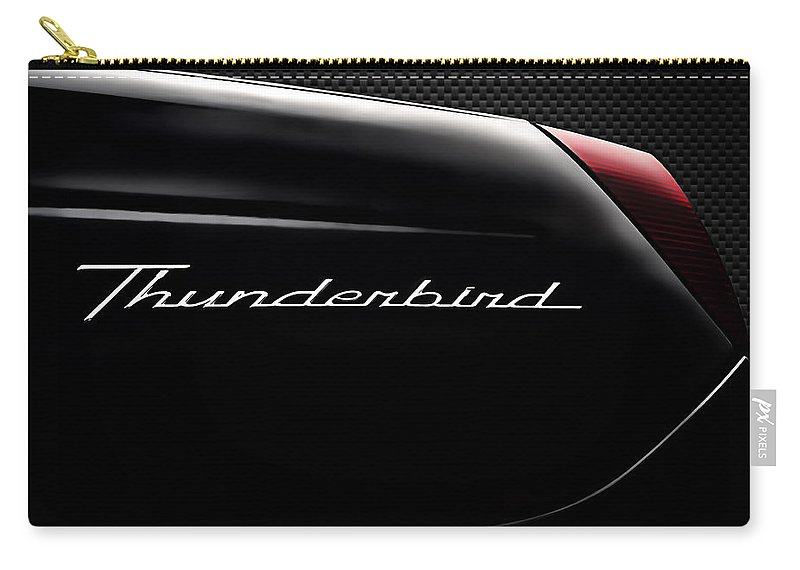 Ford Carry-all Pouch featuring the digital art Carbon Black Thunder by Douglas Pittman