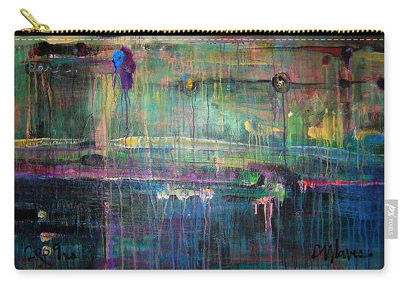 Abstract Carry-all Pouch featuring the painting Care by Laurie Maves ART