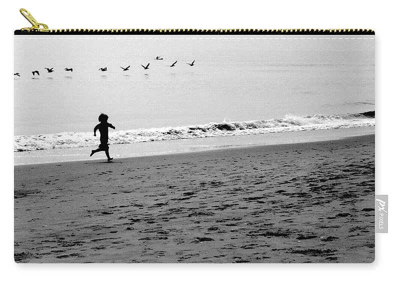 Photograph Carry-all Pouch featuring the photograph Carefree by Jean Macaluso
