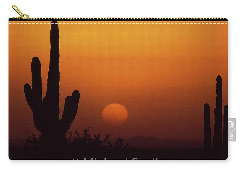 Arizona Carry-all Pouch featuring the photograph Carefree Sunset by Michael Scully