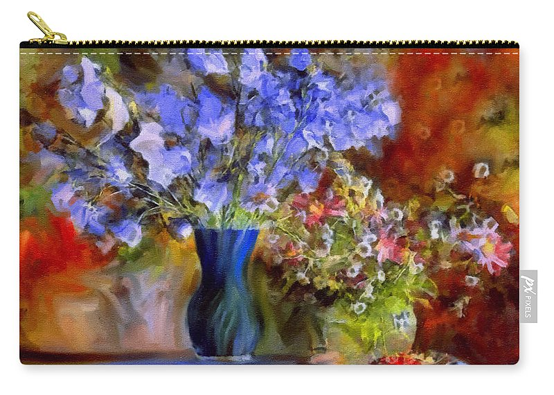 Still Life Carry-all Pouch featuring the painting Caress Of Spring - Impressionism by Georgiana Romanovna