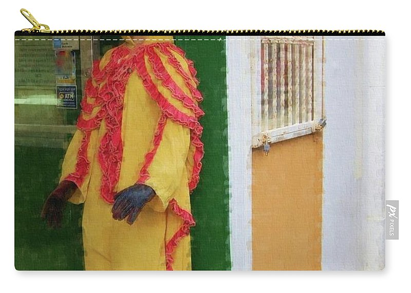 Mask Carry-all Pouch featuring the photograph Careta Hombre by Debbi Granruth