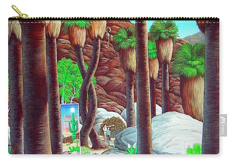 Canyon Carry-all Pouch featuring the painting Caretaker by Snake Jagger