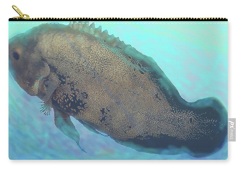 Fish Carry-all Pouch featuring the photograph Caribbean Blue by Ian MacDonald