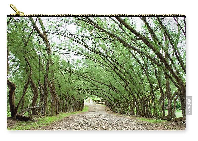 Barbados Carry-all Pouch featuring the photograph Caribbean Driveway by Ferry Zievinger