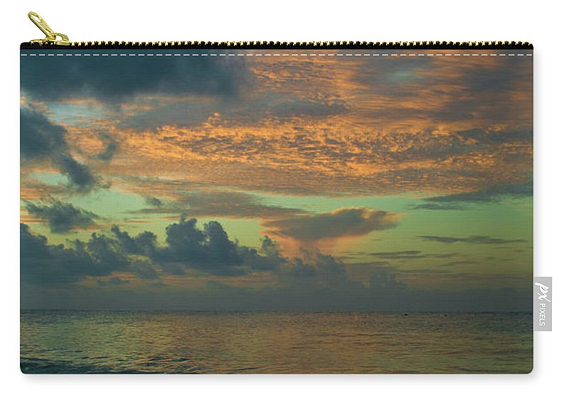 Sunrise Carry-all Pouch featuring the photograph Caribbean Early Sunrise 2 by Douglas Barnett