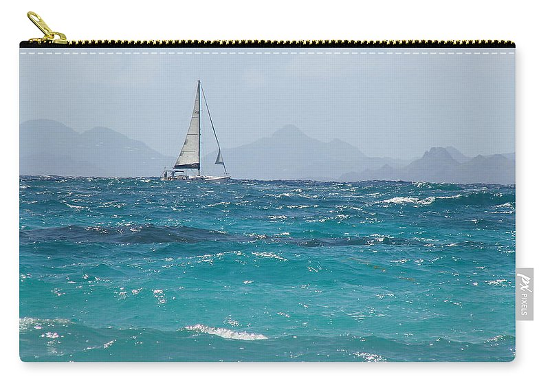 Landscape Carry-all Pouch featuring the photograph Caribbean Sailing by Margaret Bobb