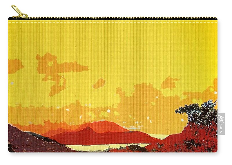 Caribbean Carry-all Pouch featuring the photograph Caribbean Sky by Ian MacDonald
