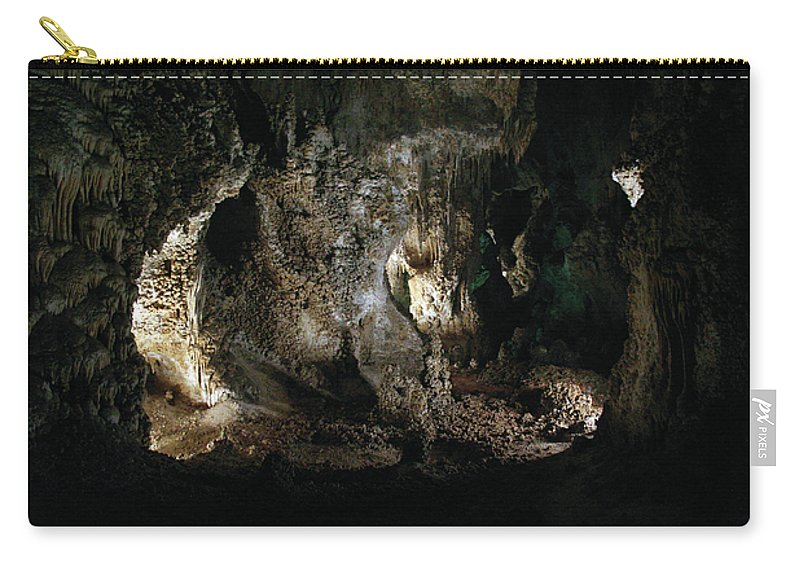 Cave Carry-all Pouch featuring the photograph Carlsbad Tunnels by Alycia Christine