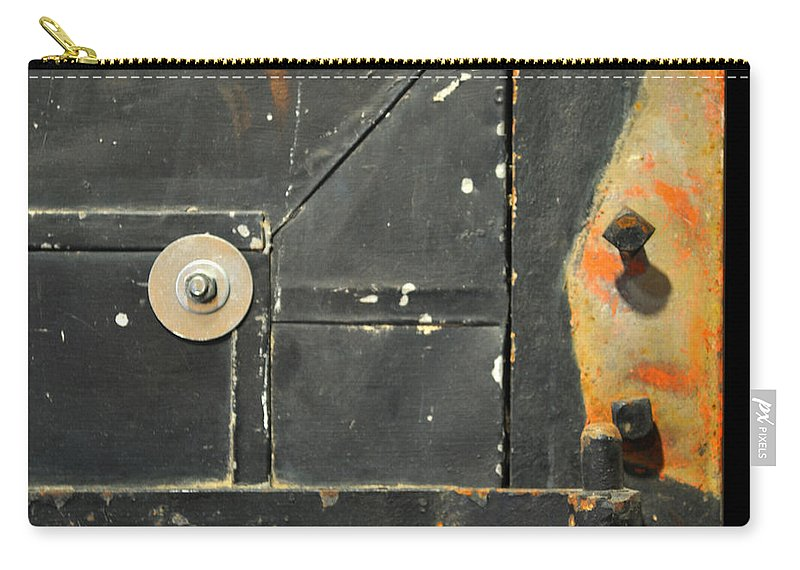 Firedoor Carry-all Pouch featuring the photograph Carlton 10 - Firedoor Detail by Tim Nyberg