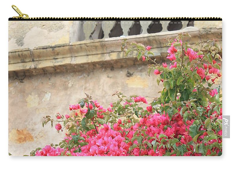 Carmel-by-the-sea Carry-all Pouch featuring the photograph Carmel Mission Bell by Carol Groenen