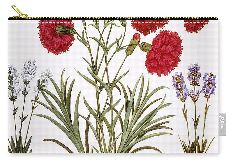 1613 Carry-all Pouch featuring the photograph Carnation & Lavender, 1613 by Granger