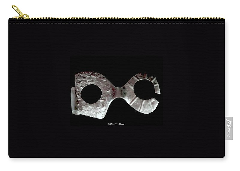 Carnival Type Face Mask For Wearing In .999 Fine Silver Carry-all Pouch featuring the photograph Carnival 002 by Robert aka Bobby Ray Howle