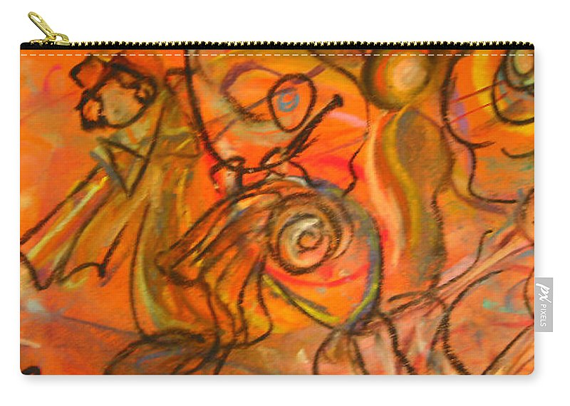 Carnival Carry-all Pouch featuring the painting Carnival by Dawn Richerson