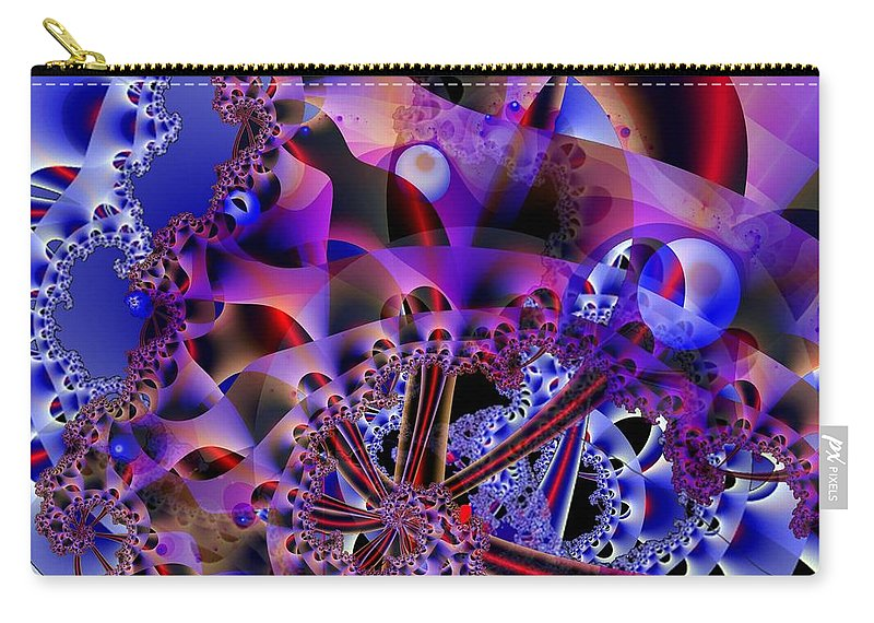 Carnival Carry-all Pouch featuring the digital art Carnival by Ron Bissett
