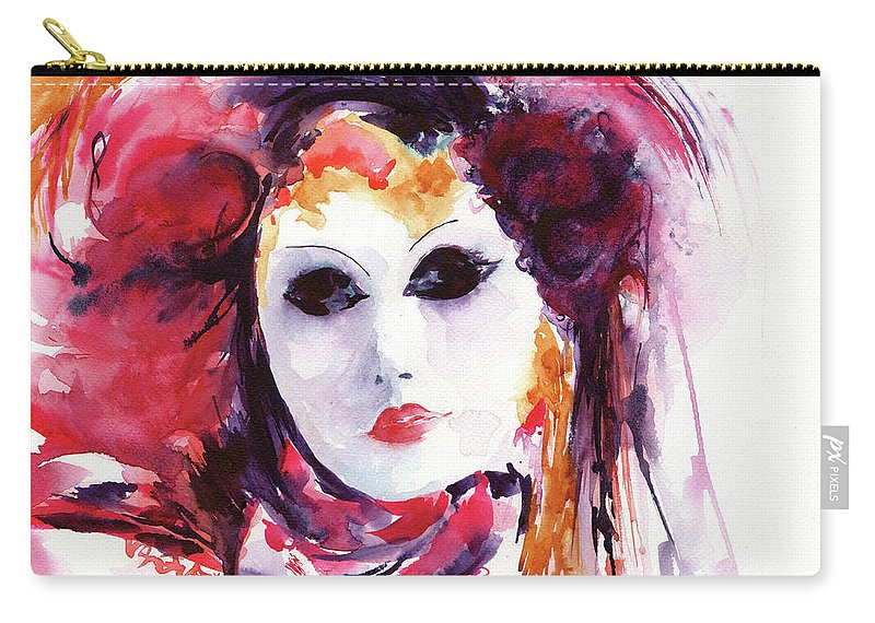 Stephie Carry-all Pouch featuring the painting Carnival by Stephie Butler