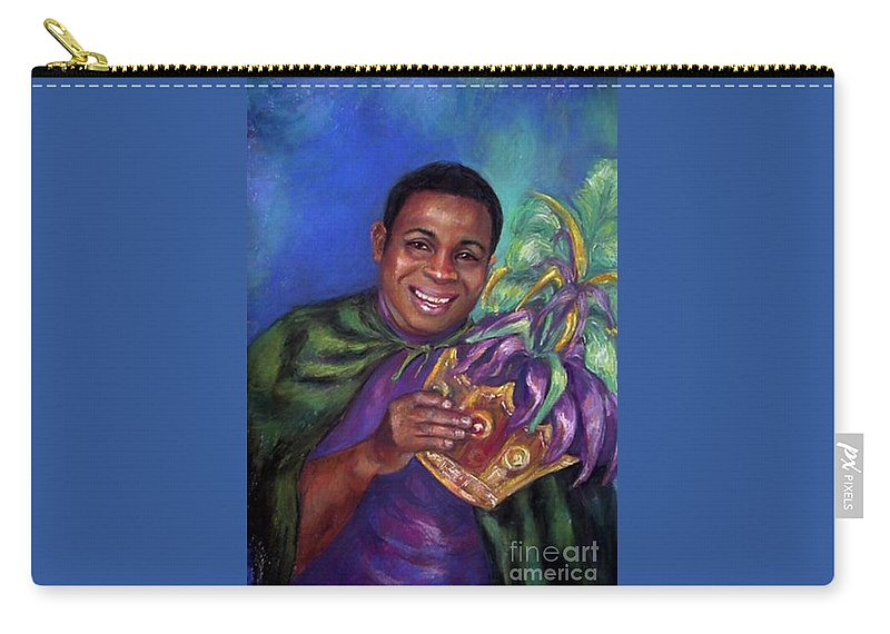 Pasel. Mardi Gras Carry-all Pouch featuring the painting Carnival Time by Beverly Boulet