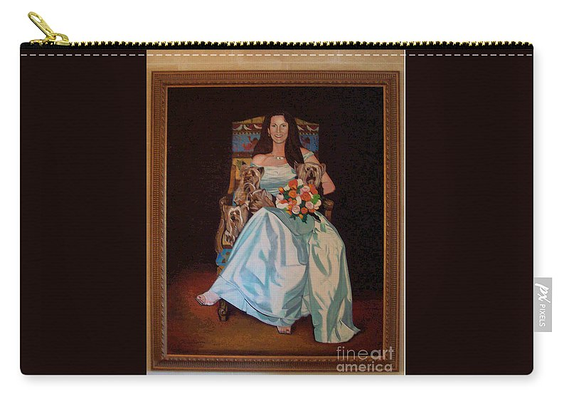 Carry-all Pouch featuring the painting Carol Anne Clark Wife Of State Judge Of Georgia Herman Coolidge by Jude Darrien