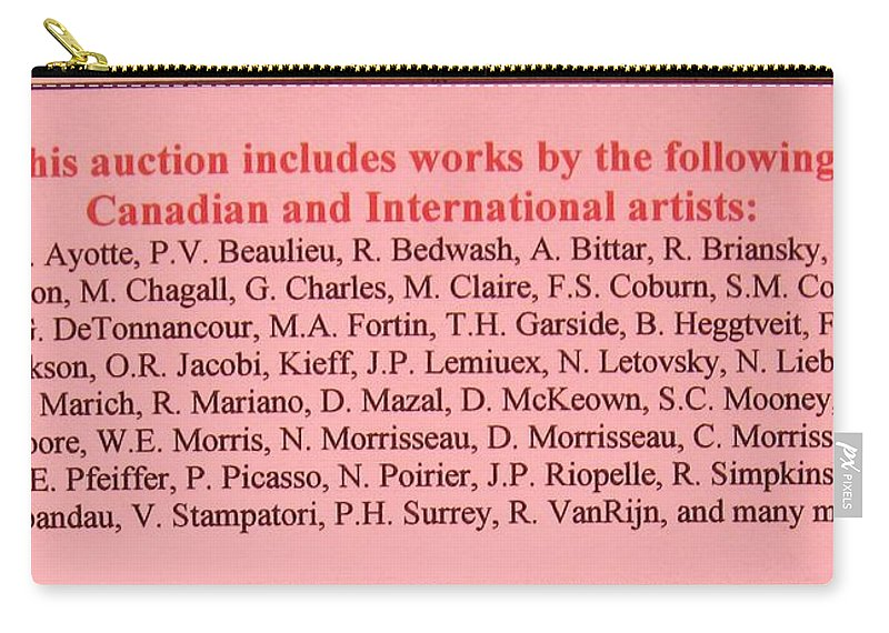 Carry-all Pouch featuring the painting Carole Spandau Montreal Streetscene Artist In Auction Of Canadian And International Painters by Carole Spandau