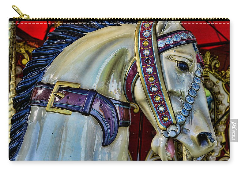 Carousel Carry-all Pouch featuring the photograph Carousel Horse - 7 by Paul Ward
