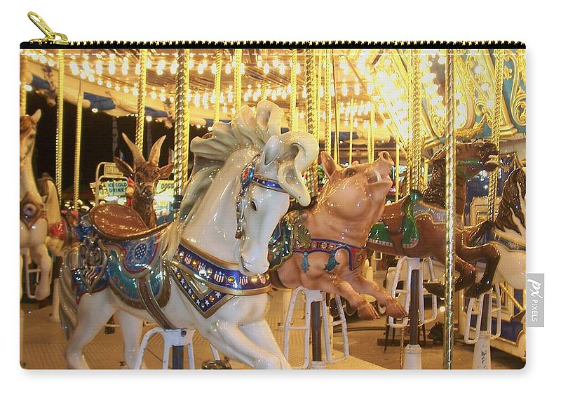 Carosel Horse Carry-all Pouch featuring the photograph Carousel Horse 2 by Anita Burgermeister
