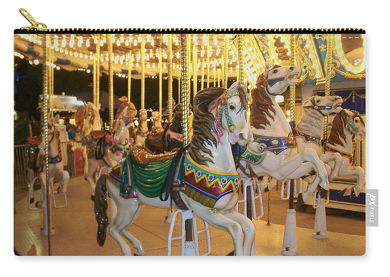 Carousel Horse Carry-all Pouch featuring the photograph Carousel Horse 4 by Anita Burgermeister
