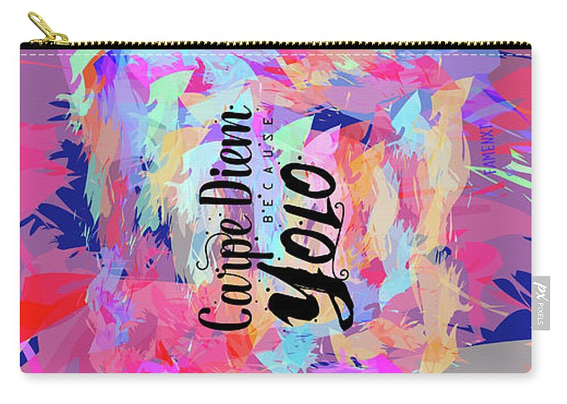 Carpe Diem Carry-all Pouch featuring the digital art Carpe Diem by Fs
