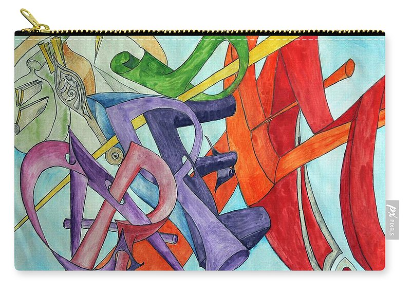 Carpe Diem Carry-all Pouch featuring the painting Carpe Diem by Helmut Rottler