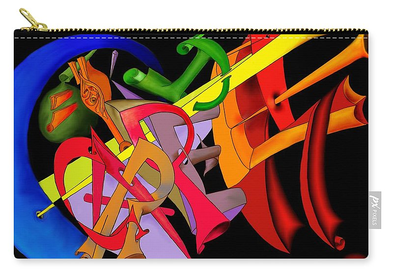 'carpe Diem' Carry-all Pouch featuring the digital art Carpe Diem II by Helmut Rottler