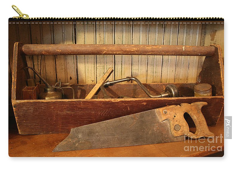 Tool Carry-all Pouch featuring the photograph Carpenter's Toolbox - Not Free Do Not Copy by Marna Edwards Flavell