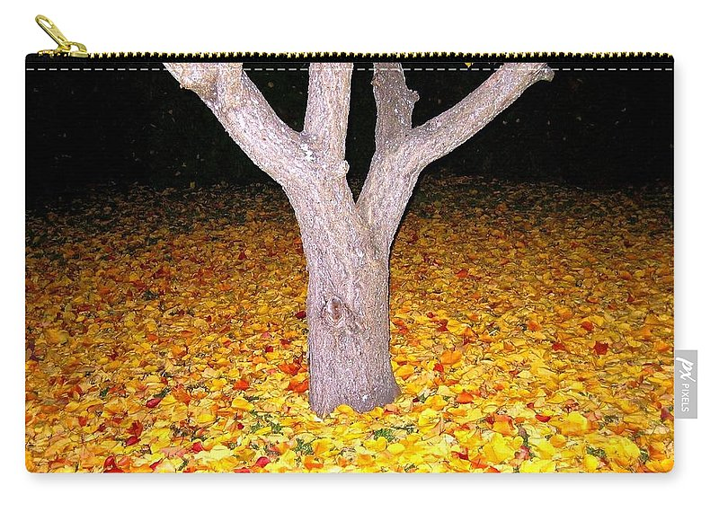 Apricot Leaves Carry-all Pouch featuring the photograph Carpet Of Leaves by Will Borden