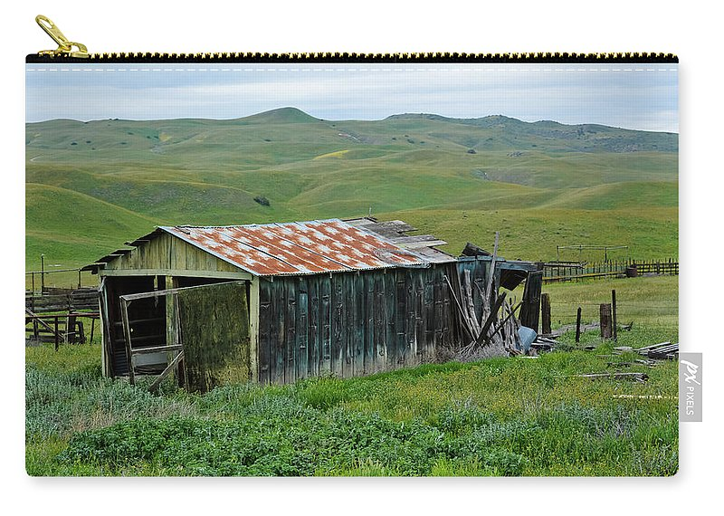 Carrizo Plain National Monument Carry-all Pouch featuring the photograph Carrizo Plain Ranch by Kyle Hanson