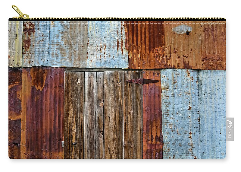 Carrizo Plain National Monument Carry-all Pouch featuring the photograph Carrizo Plain Shed by Kyle Hanson