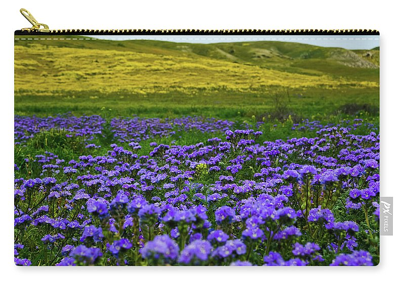 Carrizo Plain National Monument Carry-all Pouch featuring the photograph Carrizo Plain Wildflowers by Kyle Hanson