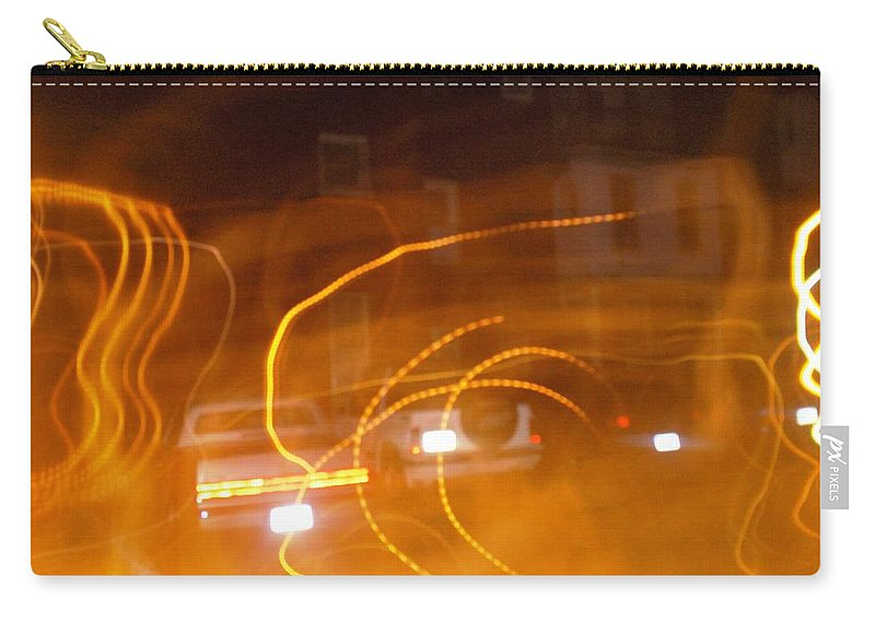 Photograph Carry-all Pouch featuring the photograph Cars On Fire by Thomas Valentine